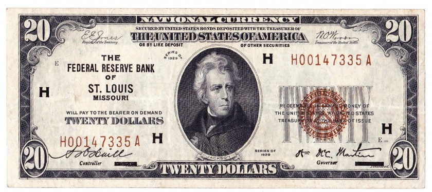 Fr 1870h Twenty Dollars Series Of